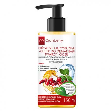 GoCranberry Odżywcze oczyszczenie- olejek do demakijażu twarzy i oczu 150 ml