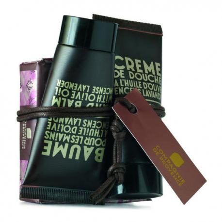 Compagnie de Provence Zestaw kosmetyków: mydło 100g + krem do rąk 30ml + żel pod prysznic 30ml Incense Lavender
