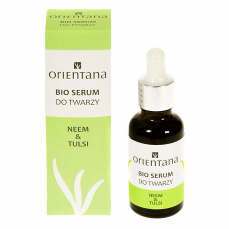 Orientana Bio serum do twarzy Neem i Tulsi 30 ml