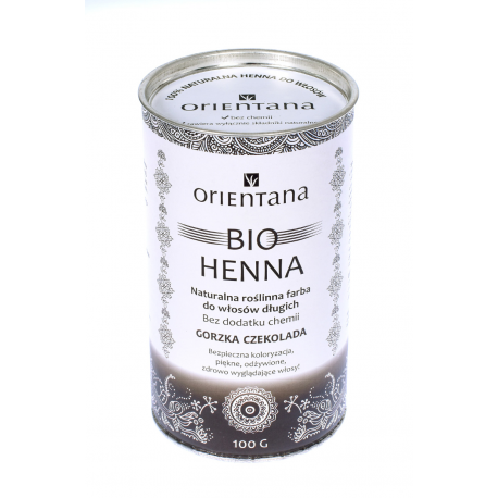 Orientana Bio Henna Gorzka Czekolada 100 g