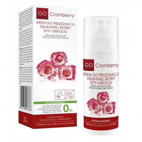 GoCranberry Krem do pielęgnacji delikatnej skóry szyi i dekoltu 50 ml
