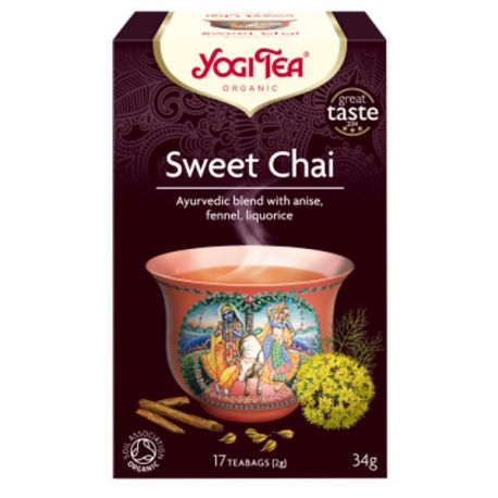 Yogi Tea Herbata Słodki Chai BIO 17x2 g