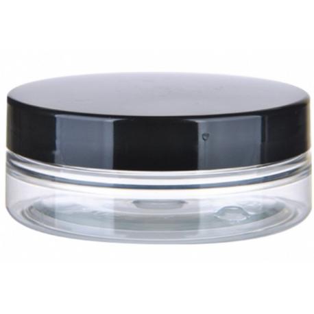 Słoik PET 50 ml - czarna nakrętka