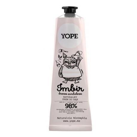 Yope Naturalny Krem do rąk Imbir i Drzewo Sandałowe 100 ml