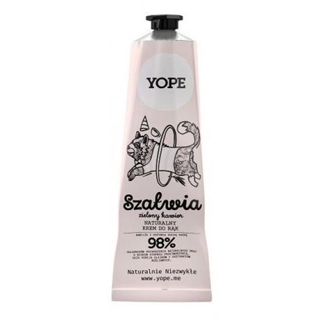 Yope Naturalny Krem do rąk Szałwia i Zielony Kawior 100 ml