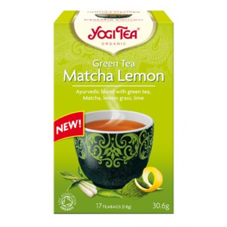 Yogi Tea Herbata Zielona z Cytryną i Matchą BIO 17x1,8 g