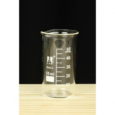 Zlewka niska szklana 50ml