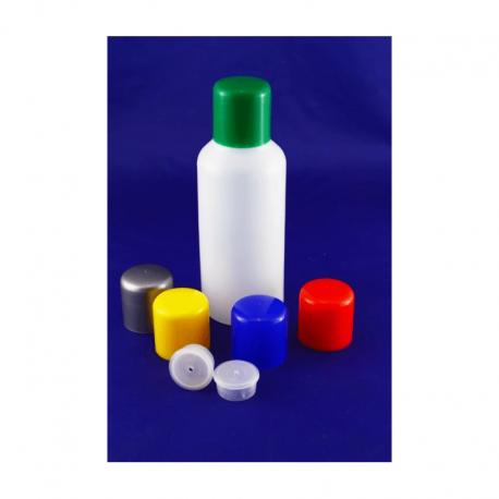 Butelka plastikowa z czerwoną nakrętką 100 ml