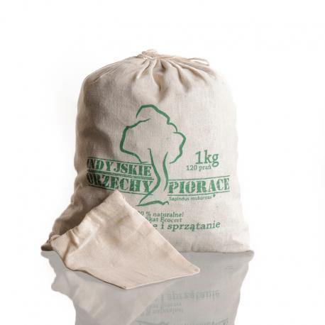 Orzechy piorące Sapindus Mukorssi Ecocert 1000 g + woreczek do prania