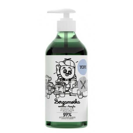 Yope Naturalny Płyn do mycia naczyń - Bergamotka, Werbena i Bazylia 750 ml