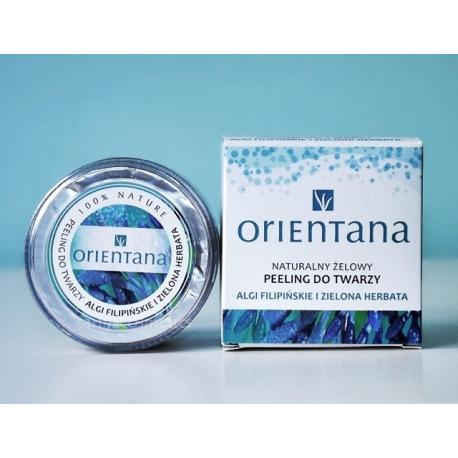 Orientana Naturalny żelowy peeling do twarzy Algi filipińskie i Zielona herbata